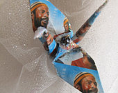 Marvin Gaye Forever Stamp Whats Going On ? Peace Crane Wedding Cake Topper Party Favor Origami Ornament Paper Anniversary Decoration