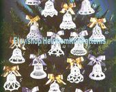 16 Bells Crochet Pattern PDF Weddings Anniversaries Party Favors Decorations Thread Crochet Tree Trims Ornaments Instant Download PDF 2445