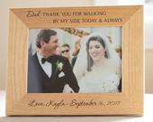 Personalized Father of the Bride Picture Frame: Engraved Father of the Bride Frame, Father of the Bride Gift, Wedding Parent Gift SHIPS FAST