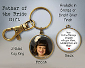FATHER of the BRIDE Gift Father of Bride Keychain Parents of the Bride Gift Wedding Keychain Custom Groom Gift Bride Gift