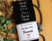 Father of the Bride socks, Special Socks for a Special Walk Wedding Socks with Socks Label. Father of the Bride Gifts