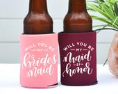 Bridesmaid Gift, Will You Be My Bridesmaid, Maid of Honor Gift, Bridesmaid Can Cooler, Personalized Bridal Party Gifts, Bridesmaid Proposal