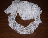 Vintage lace, Ruffled Lace, White Lace Trim, Wide Ruffled Lace, 5 Yds. Lace