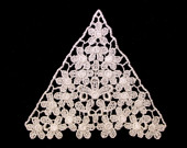 Ivory Flower Lace Applique, Bridal collection, Costume Design, Craft Making, DIY Projects, Sewing trim, Women Dresses, Garments, Jewelry.