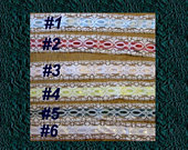 LACE RIBBON Trim Red Blue Pink Yellow Green White BTY New 1997 Vintage Sew Craft Jewelry Border Baby Pillow Notion Embellish Blanket Hat