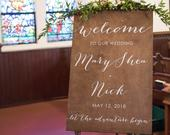 Wood Ceremony Sign, Rustic Ceremony Sign, Wedding Welcome Sign, Wedding Signs, Wood Wedding Sign, Wooden Wedding Signs, Rustic Wood Wedding