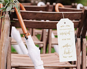 Gold Reserved Sign this row reserved for family card wedding ceremony decor reserved seating wedding signage