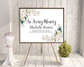 Funeral sign, funeral memorial, funeral ideas, funeral decor, celebration of life, memorial sign, printable funeral, funeral printable,
