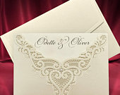 Luxury Wedding Invitation Card, Luxurious Laser Cut Printed Invitations with Pearl Bead, Personalized Elegant Wedding Invites (code 6372)