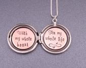 Present from groom Gift for my bride Locket for wife Wedding gift from groom Sweet gift for wife Wedding present for my bride