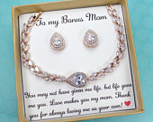 Stepmom wedding gift, Stepmother of the Bride Gift,stepmom jewelry gift,gift from bride,Stepmother of the Groom Gift,Gifts for Step mom,