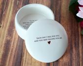 Gift for Wife, Gift To Bride from Groom, Keepsake Box Each Day I Fall For you, and You Keep Falling For Me