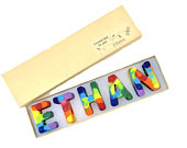 KIDS Wedding Favors NAME Crayons in a Personalized Gift Box Alphabet Rainbow Crayons Flower Girl Gifts Ring Bearer Gifts