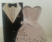 Wedding Party Favor Boxes // Groomsmen Tux and Wedding Dress Boxes // Wedding Favors