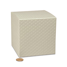 Wedding Favor Boxes 20 ct. Cardboard Width: 4 3/4 Height/Depth: 4 3/4 Length: 4 3/4 by Paper Mart