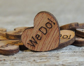 100 We Do Wood Hearts, Wood Confetti Engraved Love Hearts Rustic Wedding Decor Table Decorations Tiny Wooden Hearts I Do Wood Hearts