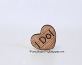 100 I Do! Wood Hearts TINY 1/2 Inch Table Confetti Wedding Decorations Wooden Heart Shapes With Words