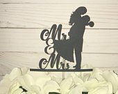 Mr and Mrs Personalized Cake Topper for Wedding, Custom Wedding Cake Topper, Bride and Groom Wedding Cake Topper, Mr and Mrs Cake Topper