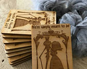 Wedding Favor, Jack and Sally Wedding Favor Magnets Bride, Groom, Gift, Disney Simply Meant to Be Wedding Magnets