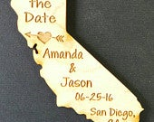 50 Save the Date Wedding Favor, California Wedding Favor State Magnets Bride, Groom, Gift, Rustic, Custom, United States Magnets
