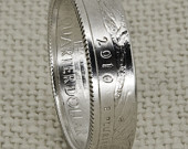 Coin Ring 2010 Silver Quarter Coin Rings Arkansas Wyoming California Arizona Oregon 9th 9 Year Anniversary Gift Silver Wedding Band Sz 313