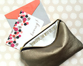 Personalized Gifts for Sister, Leather Makeup Bag, Gifts for Wife, Birthday Gifts for Her, Graduation Gifts, Custom Message