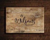 Rustic wedding guest book alternative/Wood guest book on canvas/Wedding welcome sign/Last name sign/Family name sign/Guest book sign/ CA01