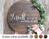 Round Wedding Guest Book Alternative Wood Sign Guest Book Alternative Round Sign Wedding Round Guest Book SOPHIA Collection