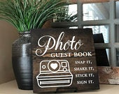 Snap It, Shake It, Sign It, Stick It, Guest Book Sign, Wedding Decor, Guest Book Sign, Photo Guest Book, Wooden Sign, Rustic Wedding Sign
