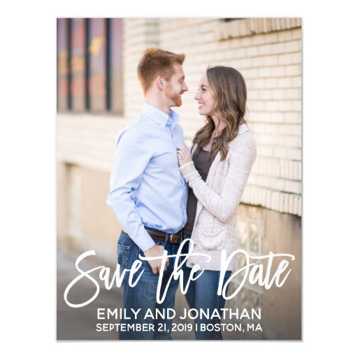 Modern Photo Wedding Save The Date Magnets
