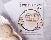 Save the date magnet, Personalized Save The Date, Wedding Invitation, Wood Save The Date Magnet, Wedding Cards with website, Rustic wedding