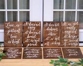 1 Corinthians 13 Signs Love Never Fails Signs Wood Wedding Aisle Signs Corinthians Aisle Sign Wood Wedding Signs Calligraphy Wedding Signs