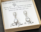 Mother of the Groom gift Mother of the Bride gift wedding gift Mother in Law Gift Mother in law wedding gift crystal earrings necklace