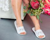 Personalized Slippers, Custom Slippers, Bridal Slippers, Bridesmaid Slippers, Wedding Slippers, Spa Party Slippers, Slippers with Names