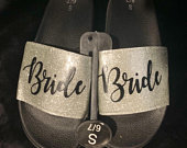 Bride Slides Wedding Day Slippers Wedding Sandals Personalized Wedding Slippers Slippers Bride Gift Bride Sandals Bridal party