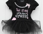 FREE SHIPPING My little black dress bodysuit with black tulle tutu