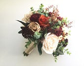 Fall Wedding Bouquet, Rustic Bridal Bouquet, Silk Wedding Bouquet, Rustic Wedding Bouquet, Burgundy Bouquet, Autumn Flowers