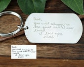 Actual Handwriting Keychain, Handwritten Keychain, Father of the Bride Keychain, Wedding Gift for Dad, Gift for Dad, Gift from Bride to Dad