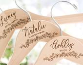 Bridesmaid Hangers Bridesmaid Gift Wedding Hangers Engraved With Names