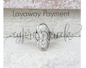 Layaway for Courtney No longer available for purchase Antique Engagement Ring Edwardian Diamond Ring in 18k Due 30th each month