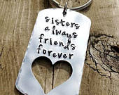 Personalized key chains sisters, big sister little sister gifts, present for sibling, step sister key chains, sister in law birthday gift