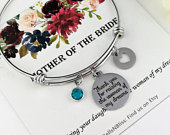 Mother of the Bride Bracelet Gift from Groom, Mother in law Gifts, Thank you for raising the Woman of my Dreams Bracelet Mother of Bride MOB