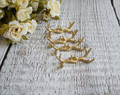 Antlers Place Card Holders, Wedding place card holders, Rustic wedding place card holders, GOLD deer antlers, Set of 6 Place card holders
