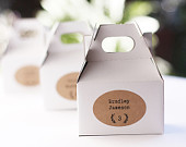 Wedding Place Cards or Escort Label, Rustic Kraft Placecard Seating Sticker, Oval Brown Favor Tag, Placement Cards Set of 15