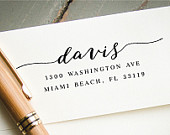 SelfInking Address Stamp, Custom Address Stamp, Custom Rubber Stamp, Personalized Stamp, Return Address Stamp, Engagement Gift