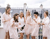 Bridesmaid Robes Bridesmaid Gifts Lace Robe Wedding Robes Bride Robe Bridesmaid Robe Bridesmaid Gift SALE (CANDY LACE)