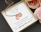 Mother of the Bride gift wedding gift Mother in Law Gift Mother in law wedding gift tree of life necklace Mother of the Groom gift