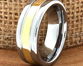 Tungsten Ring, Mens Tungsten Wedding Band, Silver Tungsten Ring, Yellow Gold Tungsten Ring, Tungsten Band, Custom Ring, 8mm High Polish