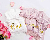 Bridesmaid Robes/ Bridal robes/ Wedding robes/ Lace Robes/ Bridesmaid Gifts/ Bridal Party Robes/Personalized Bridesmaid Robes (Love Spell)