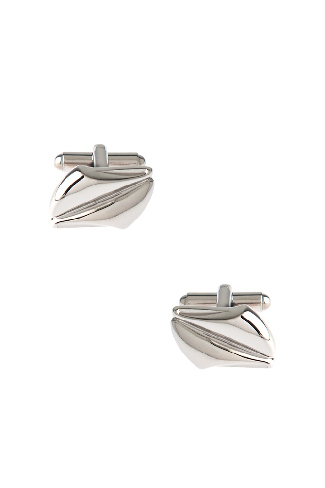Unique Solid Cufflinks by Silk Rhino - Silver Metal